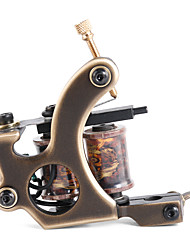 Solong Tattoo Custom Brass Tattoo Machine Gun Handmade 12 Wrap Pure Copper Coils for Liner M202-1
