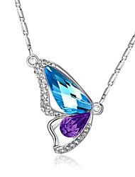 Femme Pendentif de collier Cristal Forme d'Animal Ailes / Plume Papillon Cristal Strass Amour Mode Elegant bijoux de fantaisie Bijoux Pour