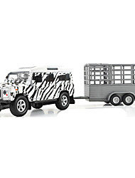 Farm Vehicles Pull Back Vehicles 1:10 Metal Black White