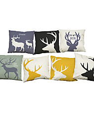 Set of 7 Modern simple  Antlers pattern   Linen Pillowcase Sofa Home Decor Cushion Cover