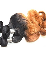 brazilian virgin hair body wave 4bundles 400g lot brazilian ombre human hair weaves tow tone colored hair color1b/27 golden color soft and smooth