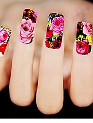1sheet Flowers Nail StickersXF1411