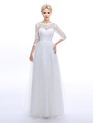 A-line Wedding Dress - Classic & Timeless Elegant & Luxurious Vintage Inspired Lacy Looks Wedding Dresses in Color Floral Lace