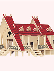Jigsaw Puzzles Wooden Puzzles Building Blocks DIY Toys  Thai Style House 1 Wood Ivory Model & Building Toy