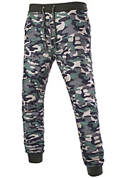 Hommes Ample Sarouel Chino Pantalon,simple Street Chic Décontracté / Quotidien Plage Vacances Couleur Pleine Camouflage Taille Normale