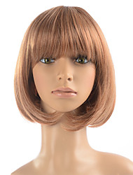 Women Wig Short Wig Synthetic Fiber Heat Resistant Hairstyle With Cap For Cosplay Costume Wig