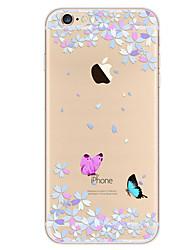 Pour Ultrafine Motif Coque Coque Arrière Coque Papillon Flexible PUT pour Apple iPhone 7 Plus iPhone 7 iPhone 6s Plus/6 Plus iPhone 6s/6