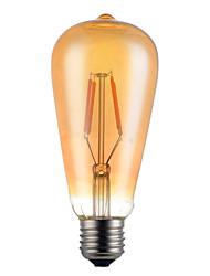 4W E26/E27 Ampoules à Filament LED ST64 4 SMD 5730 350 lm Blanc Chaud Décorative V 1 pièce