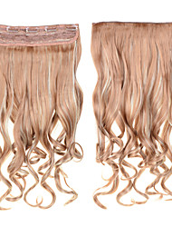 Clip In Hair 60cm 24inch 5 Clips  #27/613 Mixed Color 5Clips Synthetic Curly Hair Synthetic Hair Weaves