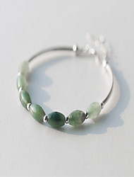 Bracelet Strand Bracelet Sterling Silver Star Natural Birthday Party Jewelry Gift Green,1pc