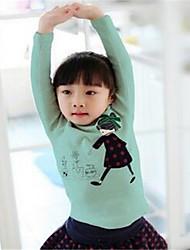 Girl Casual/Daily Solid Hoodie & Sweatshirt,Cotton Spring Long Sleeve