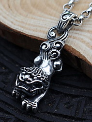 Men's Women's Pendant Necklaces Chain Necklaces Collar Necklace Jewelry Sterling Silver Single Strand Jewelry Basic Vintage Silver Jewelry