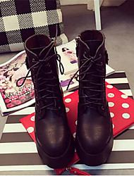 2016 new heavy-bottomed boots black