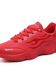 Femme-Décontracté Sport-Bleu Rouge-Talon Plat-Confort-Chaussures d'Athlétisme-Polyuréthane