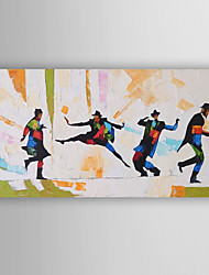 Hand-Painted  Abstract Man Dancers Oil Painting With Stretcher For Home Decoration Ready to Hang