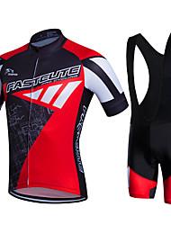 Fastcute Camisa com Bermuda Bretelle Homens Manga Curta Moto Calções Bibes Camisa/Roupas Para Esporte Tights Bib Jaqueta Shorts Camisa