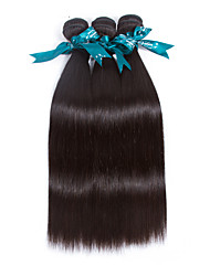 Natural Color Hair Weaves Brazilian Texture Straight 12 Months 3 Pieces hair weaves 300g