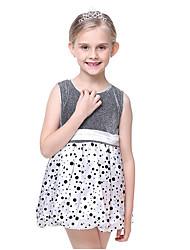 Girl's Print Dress,Cotton Polyester All Seasons Sleeveless