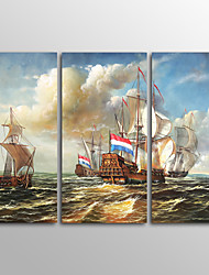 Canvas Print Boat Landscape ClassicThree Panels Canvas Horizontal Print Wall Decor For Home Decoration