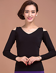 Ballroom Dance Tops Women's Training 1 Piece Long Sleeve Natural Top