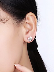 Stud Earrings Zircon Cubic Zirconia Alloy Snowflake Jewelry For Daily Casual