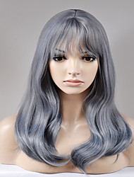 Europe and the United States in the new long section of Liu Hai black and blue mixed large wave of high temperature wire wig