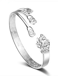 S925 silver flower blossoming open Bracelet