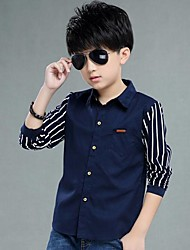 Boy Casual/Daily Striped Shirt,Cotton Spring Long Sleeve