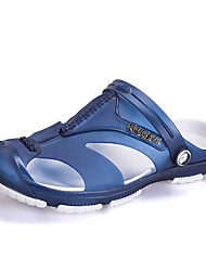 Men's Sandals Spring Summer Hole Shoes PU Casual Others Black Blue Gray Other