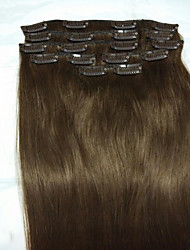 "18""#4 Clip In Remy Real Human Hair Extensions 8Pcs/80g"