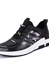 Men's Shoes New Leisure Tide Stretch Lycra KPU Fabric PU Rubber Sole Sports Shoes black/ coffee