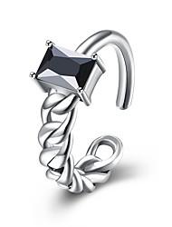 Ringe Hochzeit Party Alltag Normal Schmuck Sterling Silber Kubikzirkonia Ring 1 Stück,Eine Größe Silber