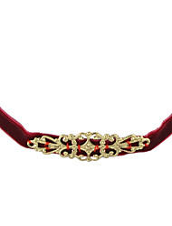Necklace Choker Necklaces Tattoo Choker Jewelry Casual Basic Design Tattoo Style Alloy Velvet 1pc Gift Black Red