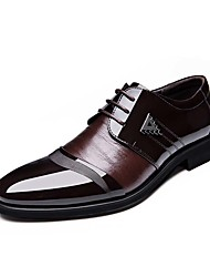 Men's Shoes Leatherette Spring Summer Fall Winter Comfort Fashion Boots Formal Shoes Oxfords Lace-up For Casual Outdoor Office & Career