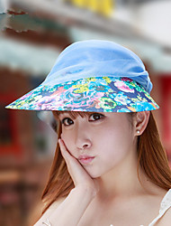 Summer New Anti - UV Cycling Empty Top Hat Can Be Folded Lace Embroidered Big Hat