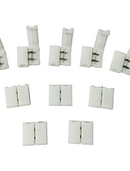 10pcs pack de bande à bande unwired gapless solderless enclenchez 2pin conducteur conduit connecteur de bande pour 8mm larges 3528 2835