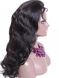 130% Density Body Wave Lace Frontal Wigs Natural Color Brazilian Hair Wigs Free Parting Accept Custom