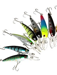 "8 pcs Hard Bait Minnow Fishing Lures Minnow Hard Bait Assorted Colors g/Ounce,90 mm/3-1/2"" inch,Hard PlasticSea Fishing Bait Casting"