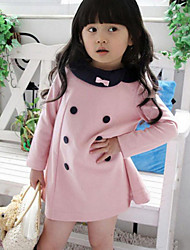 Girl's Patchwork Dress,Cotton Spring Fall Long Sleeve