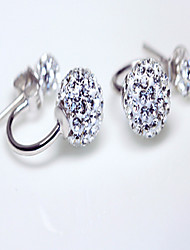 Women's Stud Earrings Crystal Sterling Silver Rhinestone Jewelry For Daily