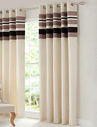Country Curtains® Room Darkening Polyester Linen with Pleated Band lined Curtain Two Panel