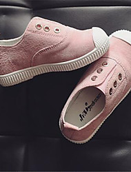 Girl's Flats Comfort Leather Outdoor Casual Athletic Pink White Running