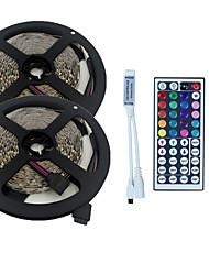 10m 3528 600 smd ip44 rgb Wechselstrom 100-240V mit 44 Tasten-Fernbedienung Beleuchtung Satz