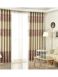 Two Panels Korean Style Cotton Printing Curtain Room Restaurant Children Room Curtains