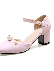 Women's Sandals Spring Summer Fall D'Orsay & Two-Piece Leatherette Wedding Office & Career Party & Evening Dress Casual Low Heel Crystal