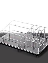 Makeup Storage Solid Quadrate Plastic Transparent Normal 29.5*20.5*9 Unisex