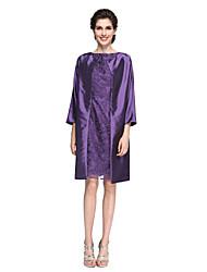 Fourreau / Colonne Bateau Neck Mi-long Dentelle Taffetas Robe de Mère de Mariée  - Dentelle par LAN TING BRIDE®