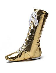 Customizable Women's Dance Shoes Leatherette Ballet Boots Flat Heel Indoor