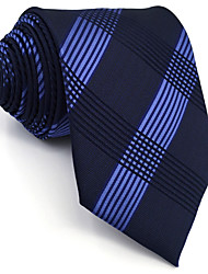 B22 Mens Ties Navy Blue Geometric Fringe 100% Silk Business New Fashion Wedding Dress For Men