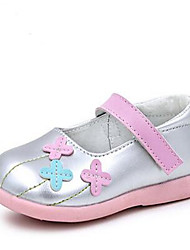 Girl's Loafers & Slip-Ons Comfort PU Casual Purple Silver
